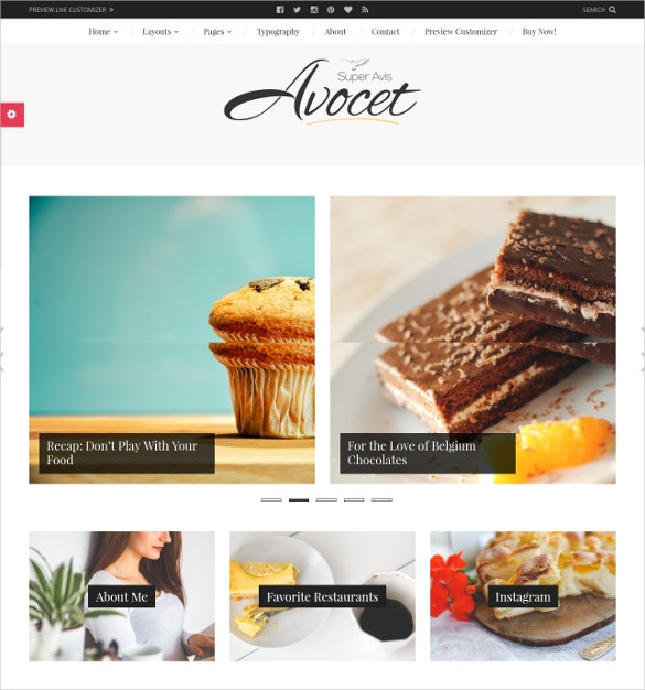 lifestyle food travel and fashion bloggers wordpress theme 49