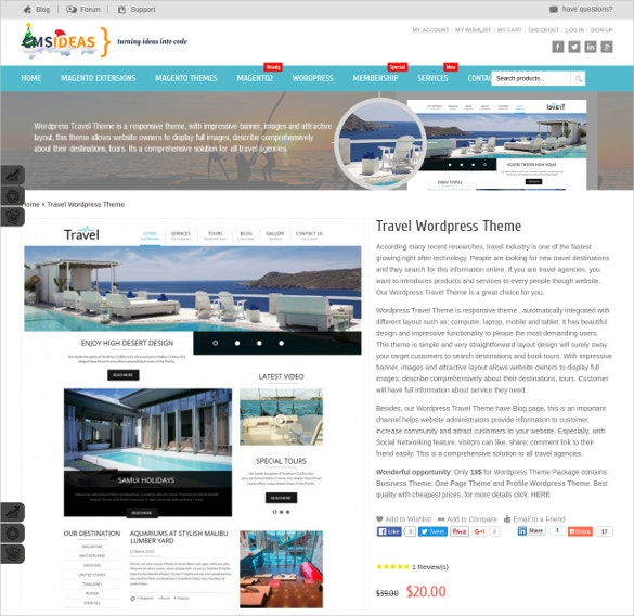 responsive travel wordpress blog theme 25