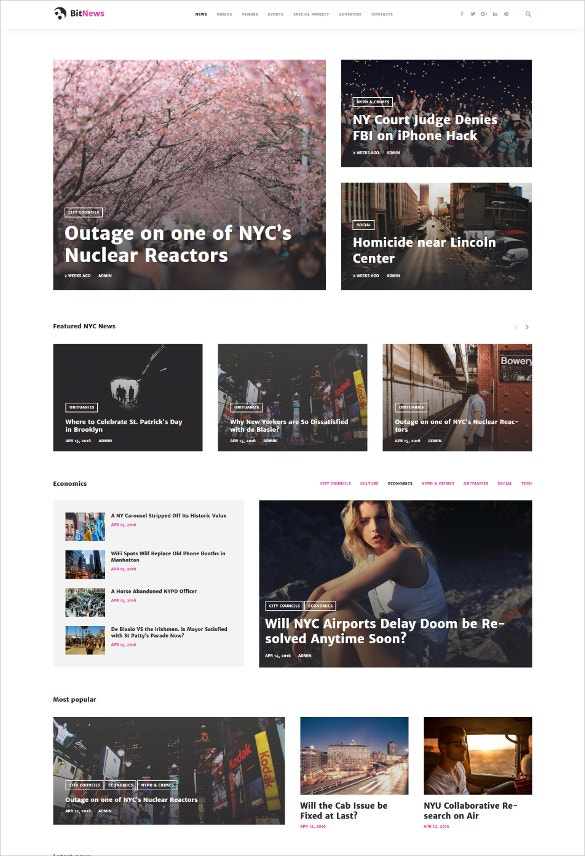 city portal magazine wordpress theme