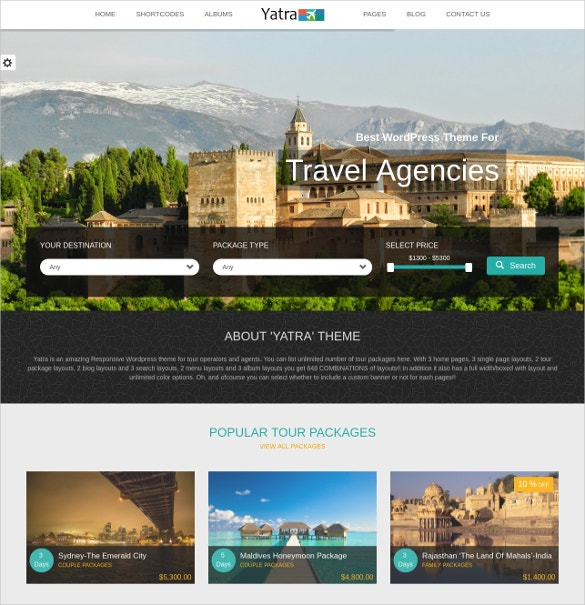 yatra travel booking wordpress blog theme 50