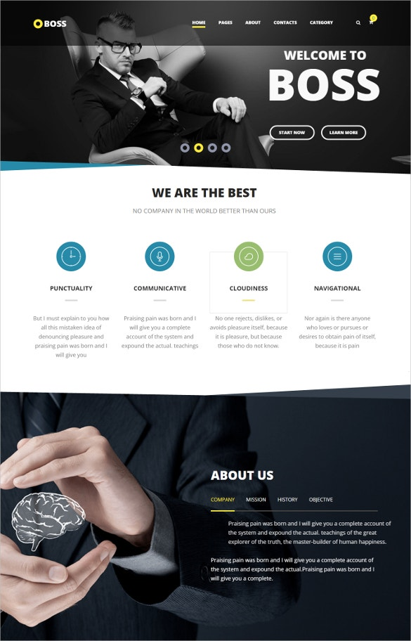 modern agency business wordpress theme