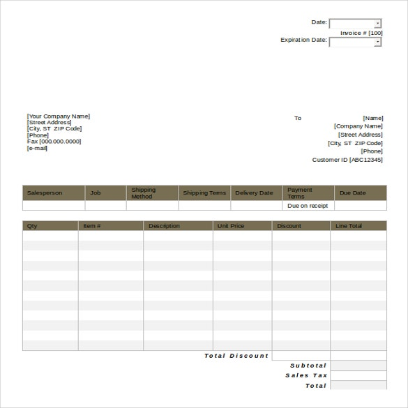 Price Quote Template: 25+ MS Word 2010 Format Quotation Templates Free Download