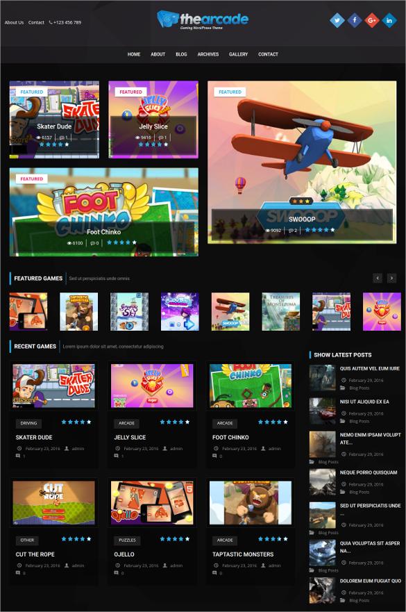 gaming wordpress responsive theme