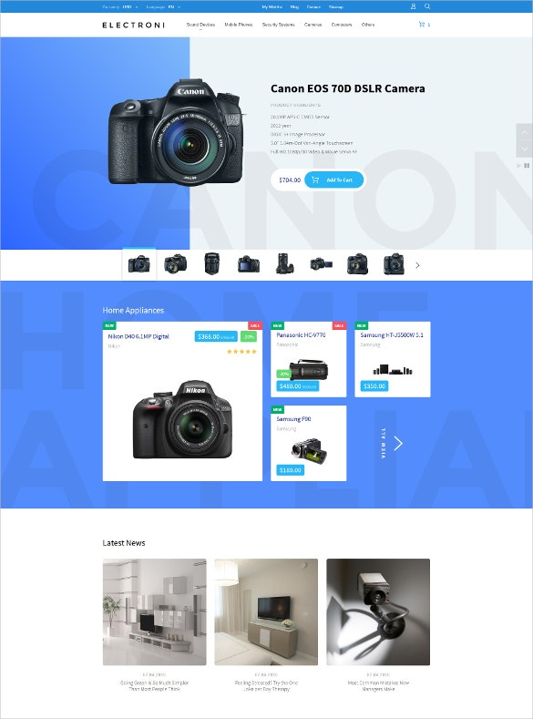 ecommerce electronic devices prestashop theme