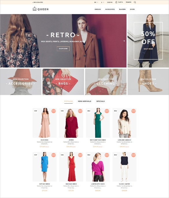 ecommerce womens clothes prestashop theme