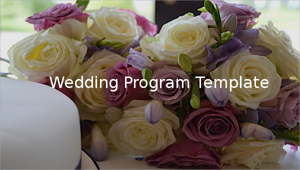 Wedding Program Templates – 15+ Free Word, PDF, PSD