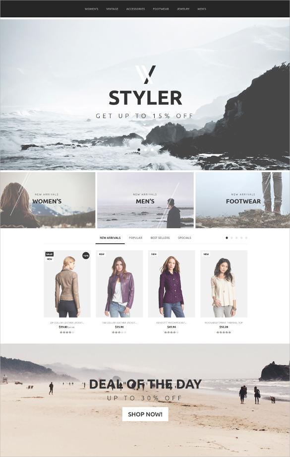 ecommerce styler prestashop theme