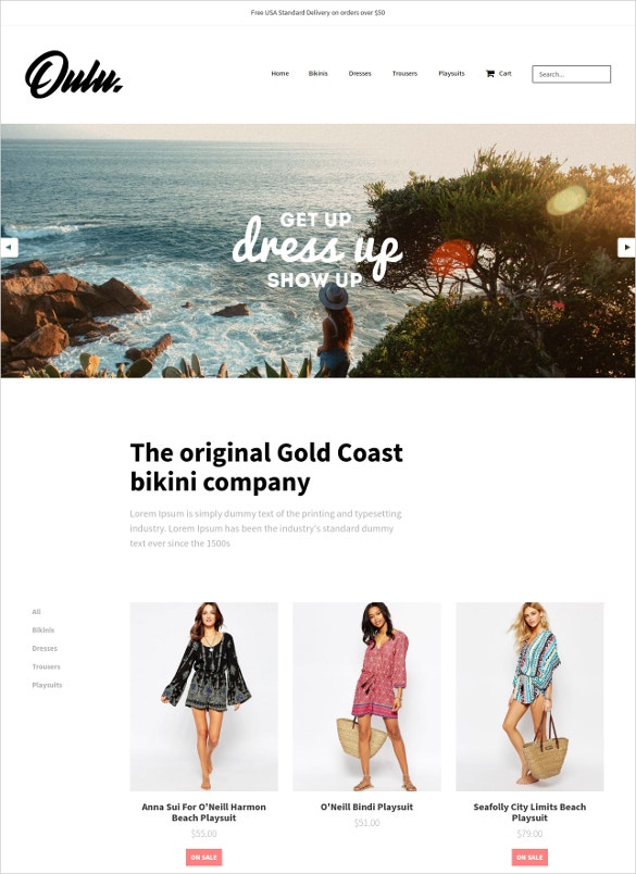 ecommerce trendy shop store template
