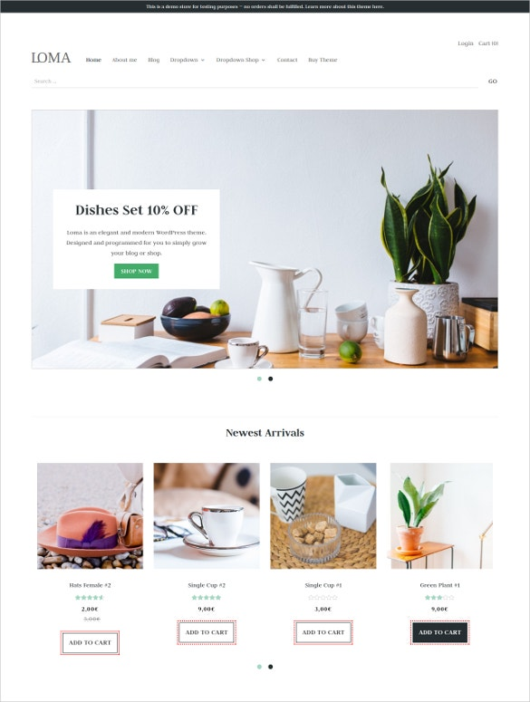 ecommerce kitchen set woocommerce theme