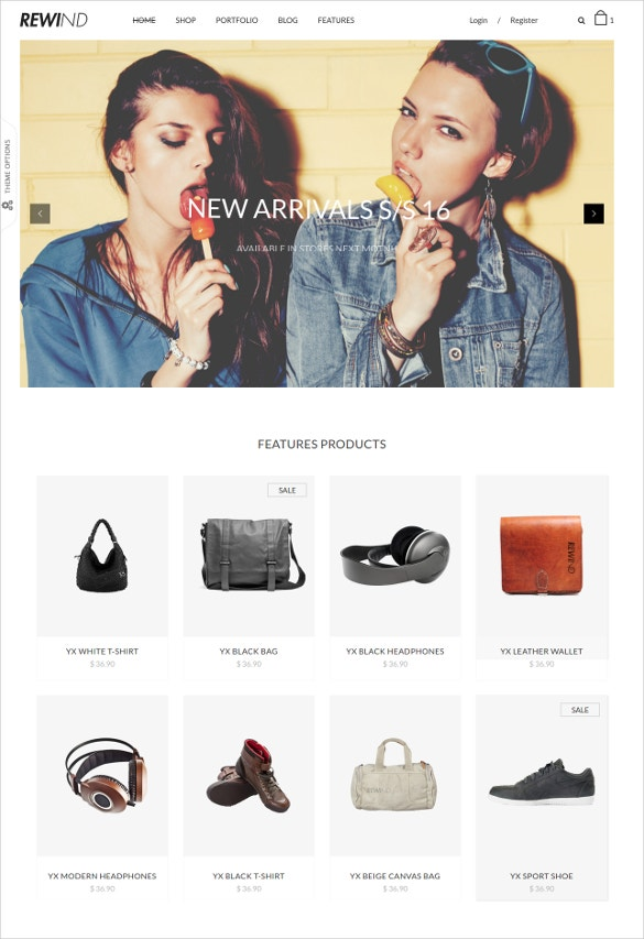 ecommerce fashion bootstrap template
