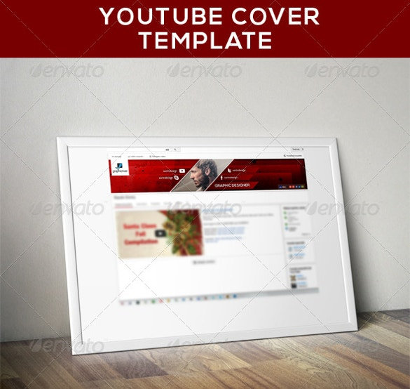 modern youtube banner cover template free dowload