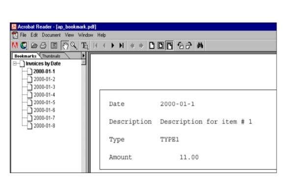 pdf bookmark template free download