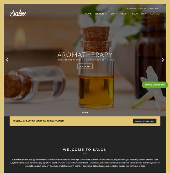 spa beauty salon wordpress blog theme