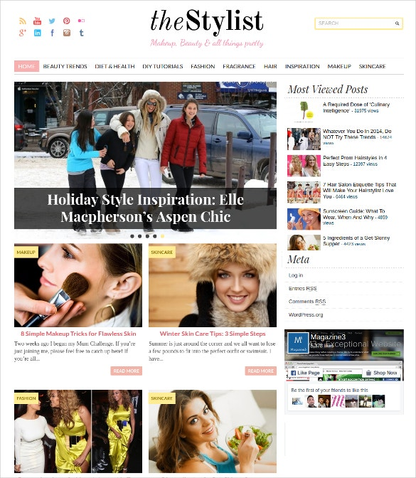 stylish beauty wordpress blog theme 59