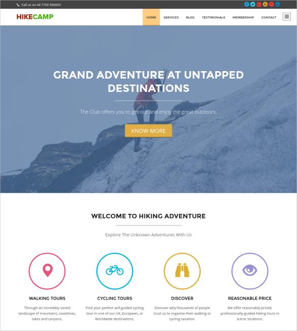camping trekking and hiking wordpress blog theme 79