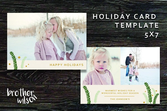 modern holiday greeting card template word format