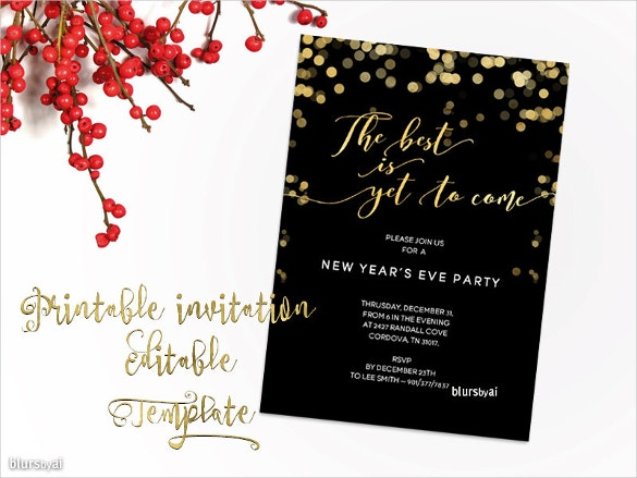 Free Download Holiday Templates In Microsoft Word Free - New years eve party invitation templates free