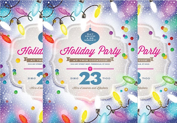 word format holiday party flyer template