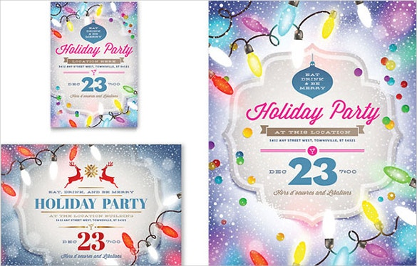 word holiday party template download