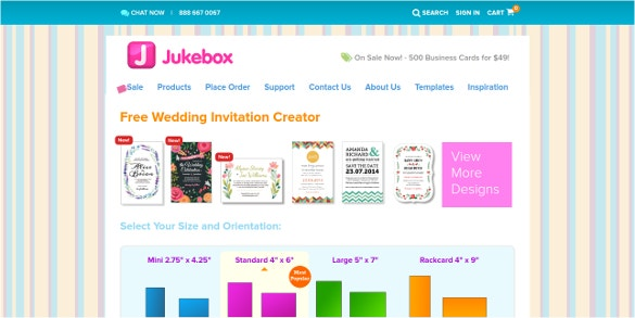 Top best 12 online invitation makers tools to make your invite juke box definitely knows how to keep their customers happy they have the amazing business deals which they offer they also have an easy tool which allows stopboris Image collections