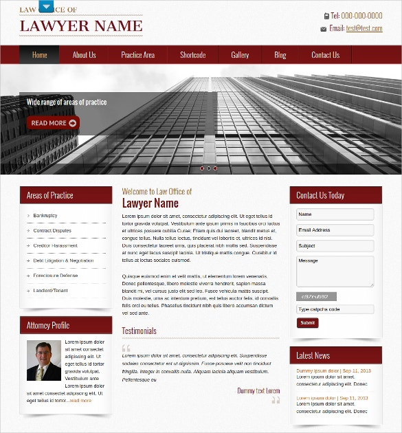 Professional Law Firm WordPress Website Theme $39