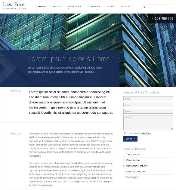 Powereful Law Firm WordPress Website Theme $50