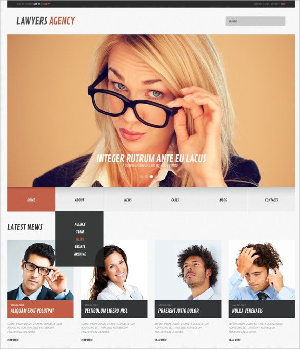 Law Firm Responsive WordPress Website Theme $75