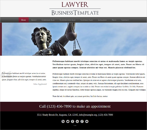 Lawyer WordPress Website Theme $75