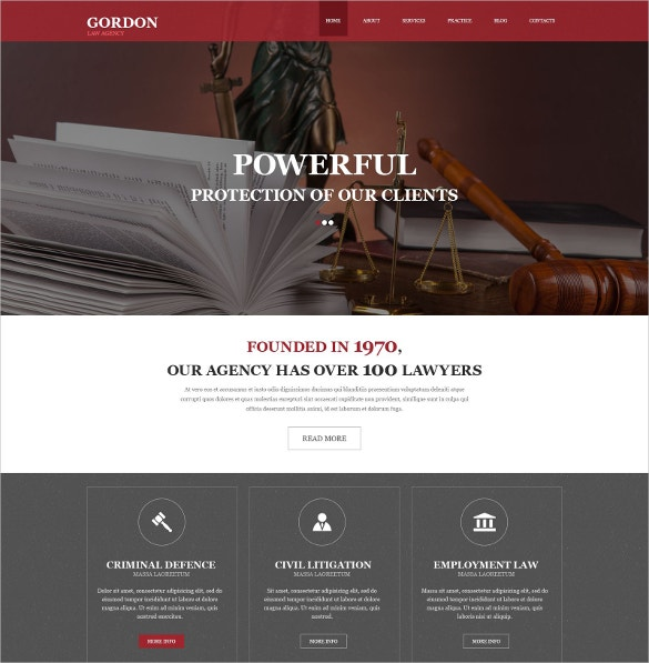 Law Firm Muse Website Template $44