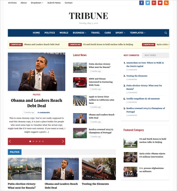 tribune powerful news paper blog wordpress theme 69