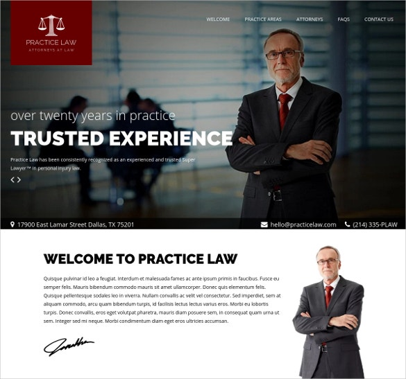 Practice Law WordPress Website Attorney Theme $48