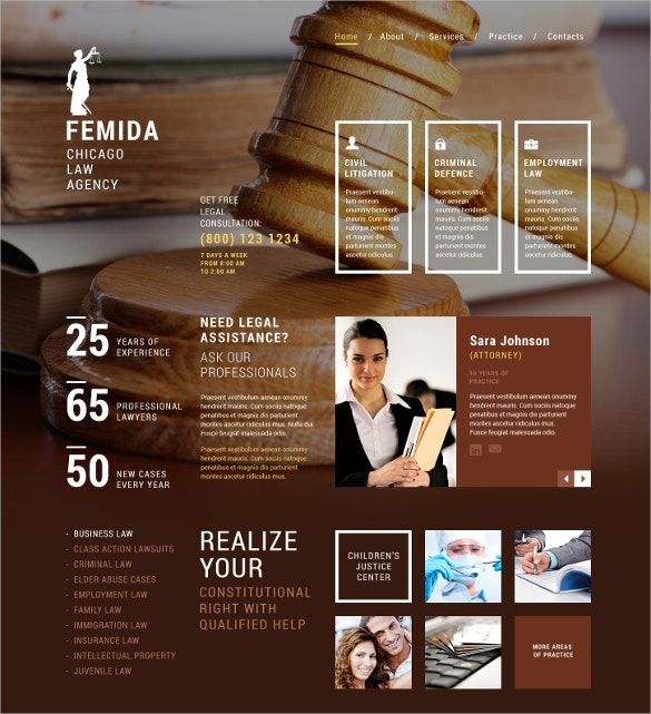 Law Adviser & Law Firm Joomla Website Template $75