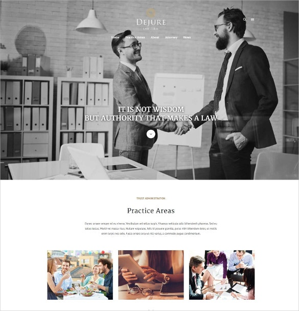 Responsive WordPress Website Theme For Law firm & Business $49
