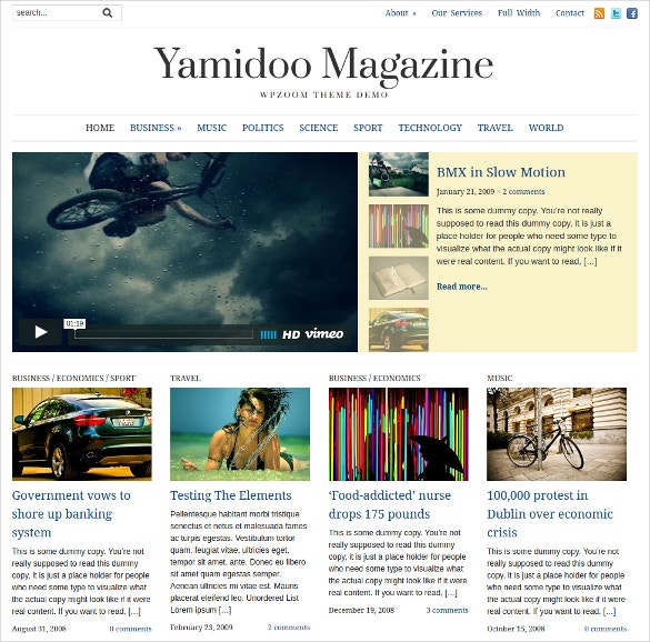 informative website magzine news blog wordpress theme 69