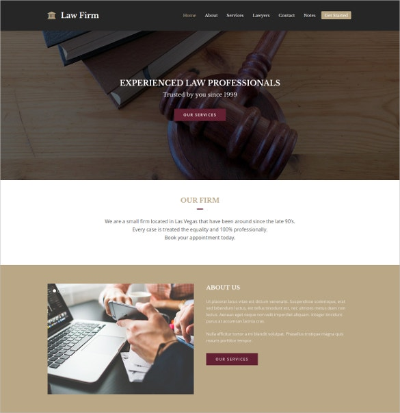 Total Law Firm WordPress Website Theme