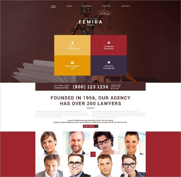 Law Adviser Joomla Website Template $75
