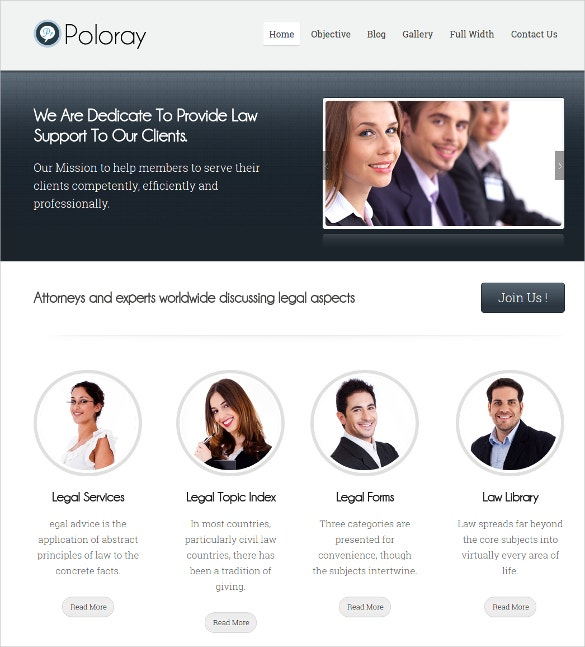 WordPress Website Theme For Private Lawyers & Law firms $59