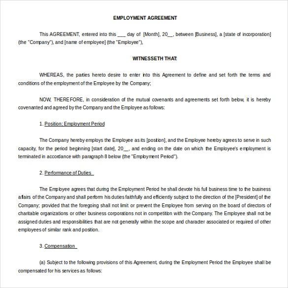 13 Microsoft Word Agreement Templates Free Download – Microsoft Word Contract Template Free