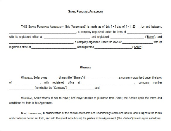 Word 2010 Format Purchase Agreement Template Free Download  Microsoft Word Contract Template Free