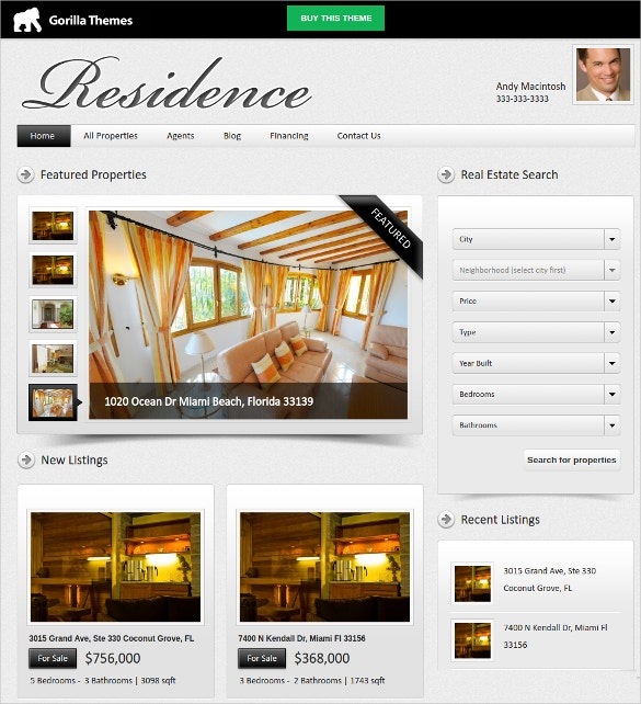 designer real estate agent mortgage wordpress theme 49