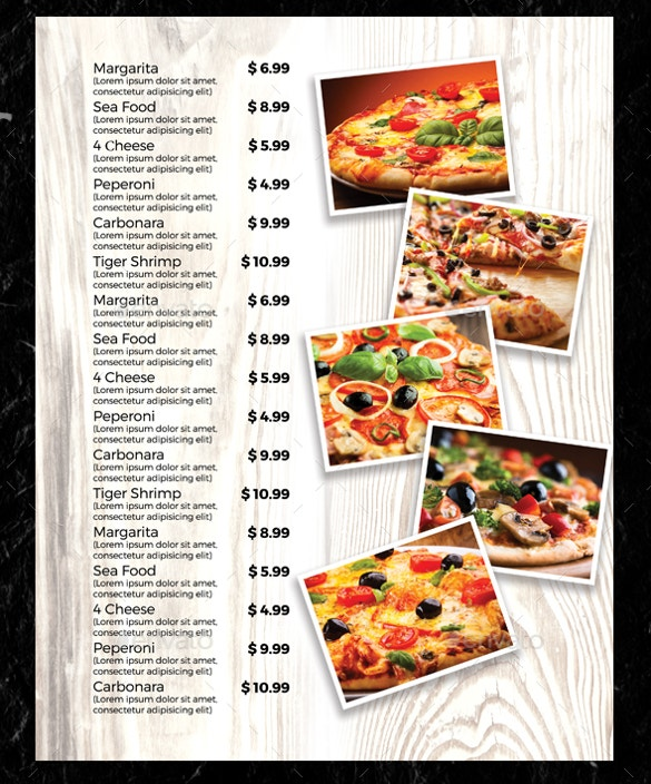 Menu Templates   Free Excel Pdf Psd Documents Download