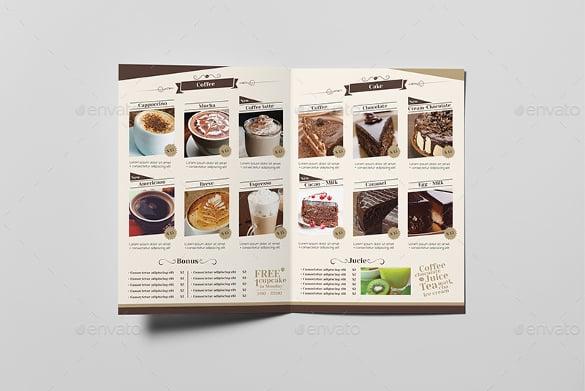 amazing coffee shop menu template