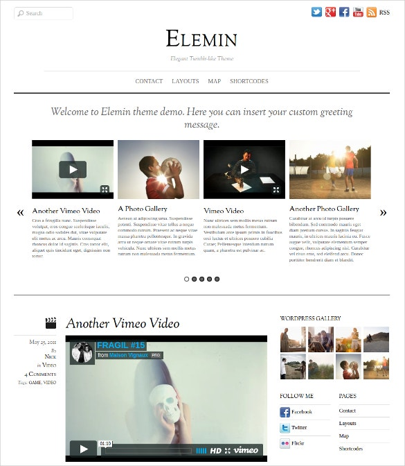 minimal art portfolio wordpress theme 49