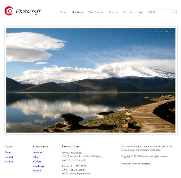 online art portfolio wordpress theme