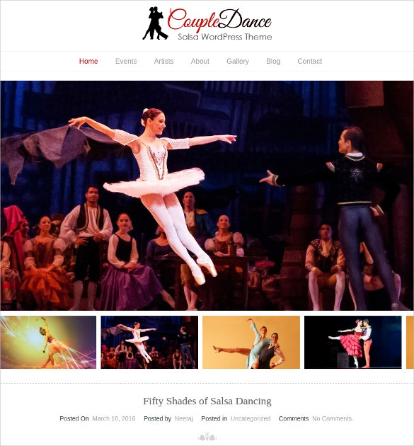 couple dance artist portfolio wordpress theme 79