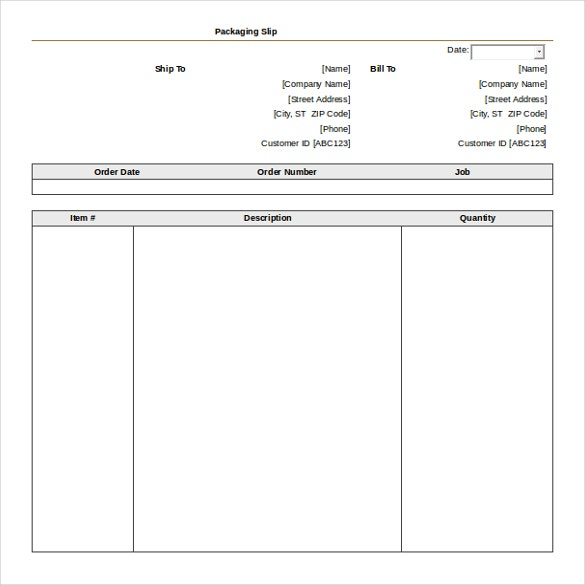 Packaging Slip Template Free Word Format Download  Packing Slip Format