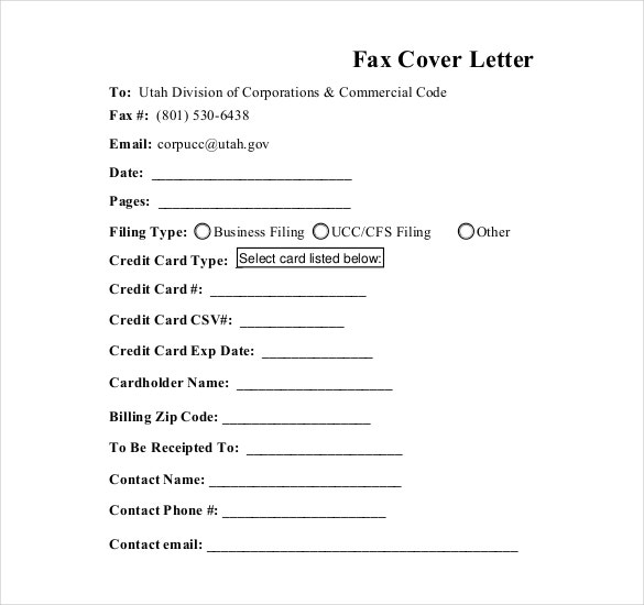 fax cover letter pdf document download
