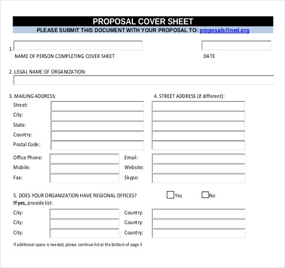 proposal cover sheet template in pdf