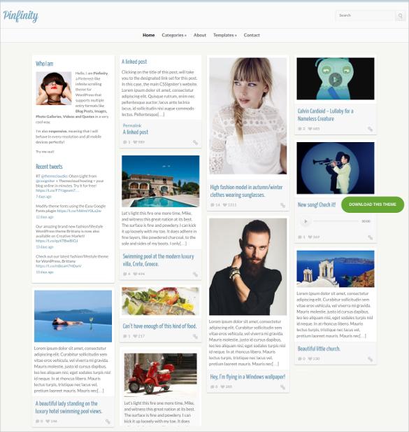 online tumblr style wordpress theme