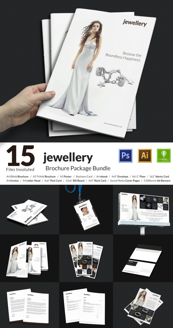 15 Well Designed Jewelry Templates Bundle